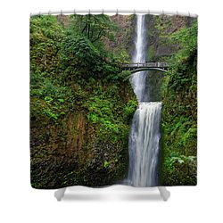 Shower Curtain featuring the photograph Multnoma Falls by Jonathan Davison