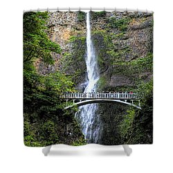 Multnomah Falls, Columbia River Gorge Shower Curtain by Greg Sigrist