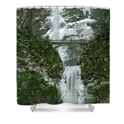 Multnomah Falls Ice Shower Curtain