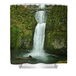 Multnomah Falls Shower Curtain by Sheila Ping