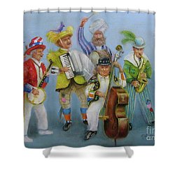 Mummers Jam Session Shower Curtain