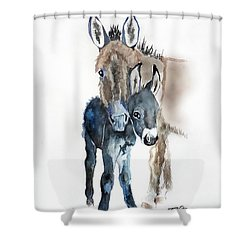 Mummy Donkey Shower Curtain