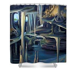 Mural Ice Monks In November Shower Curtain