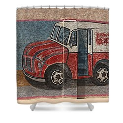Mural On Historic Route 66 Shower Curtain