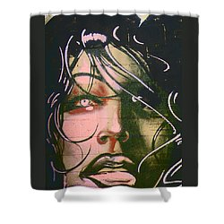 Shower Curtain featuring the photograph Mural Variation 2 by Lenore Senior