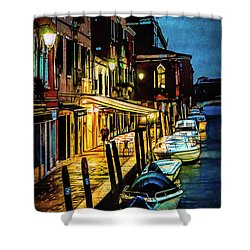Murano At Night. Shower Curtain
