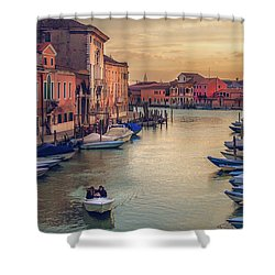 Murano Late Afternoon Shower Curtain by Brian Tarr