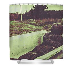 Murder Body Bag Shower Curtain