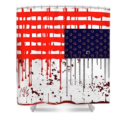 America In Distress Shower Curtain