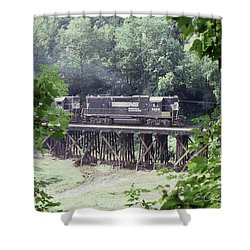 Murphy Branch Freight Shower Curtain