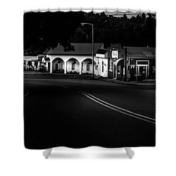 Murphy Chop House Sunrise In Black And White Shower Curtain
