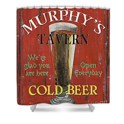 Murphy's Tavern Shower Curtain by Debbie DeWitt