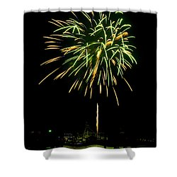 Murrells Inlet Fireworks Shower Curtain