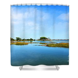 Murrells Inlet Shower Curtain by Kathy Baccari
