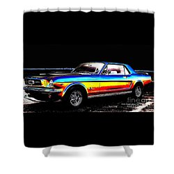 Muscle Car Mustang Shower Curtain