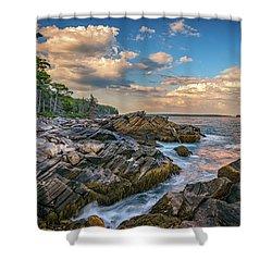 Muscongus Bay Shower Curtain by Rick Berk
