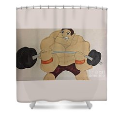 Muscular Man Shower Curtain