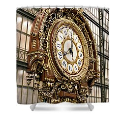 Musee D'orsay Clock Shower Curtain
