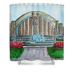 Museum Center Shower Curtain by Elaine Duras
