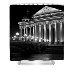 Museum Of Archaeology Shower Curtain by Rae Tucker
