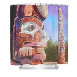 Museum Of Man Shower Curtain by Ron Wilson