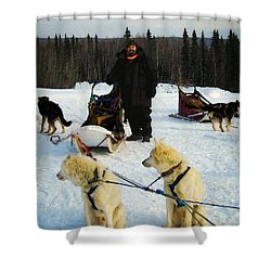 Shower Curtain featuring the photograph Musher by Timothy Bulone