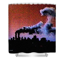 Mushroom Cloud From Flight 175 Shower Curtain by James Kosior