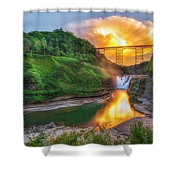 Shower Curtain featuring the photograph Mushroom Cloud Over Upper Falls by Mark Papke
