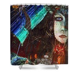 Mushroom Girl Shower Curtain