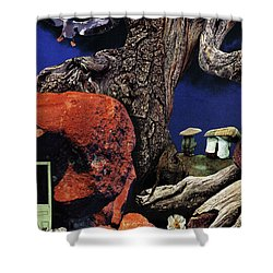 Mushroom People - Collage Shower Curtain