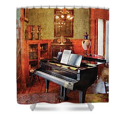 Music - Piano - It's A Long Long Way To Tipperary Shower Curtain by Mike Savad