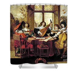 Music, 17th Century Shower Curtain by Granger