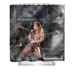 Music 5513 Shower Curtain by Jani Heinonen