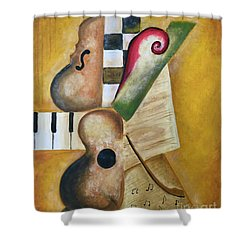 Music Abstract  Shower Curtain