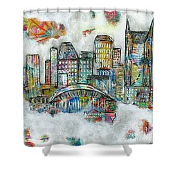 Music City Dreams Shower Curtain