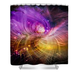 Shower Curtain featuring the digital art Music From Heaven by Carolyn Marshall