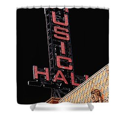 Music Hall Sign Shower Curtain