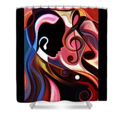 Shower Curtain featuring the painting Music In The Air by Karen Showell