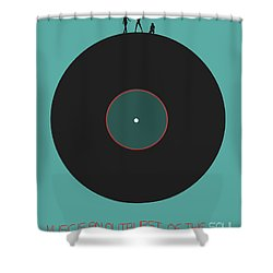 Music Is An Outburst Of The Soul Poster Shower Curtain by Naxart Studio