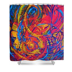 Music Shower Curtain by Jeanette Jarmon