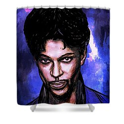 Music Legend  Prince Shower Curtain
