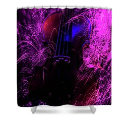 Music Light Painting  Shower Curtain