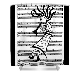 Music Man Kokopelli Shower Curtain