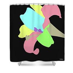 Shower Curtain featuring the digital art Music Notes 13 by David Bridburg