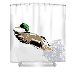 Shower Curtain featuring the digital art Music Notes 22 by David Bridburg