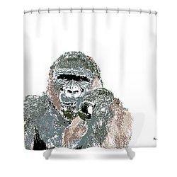 Shower Curtain featuring the digital art Music Notes 23 by David Bridburg