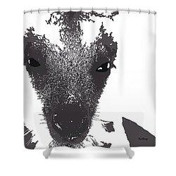 Shower Curtain featuring the digital art Music Notes 28 by David Bridburg