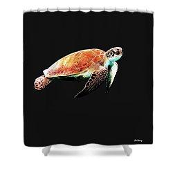 Shower Curtain featuring the digital art Music Notes 31 by David Bridburg