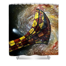Music Of The Cosmos Shower Curtain by RC deWinter