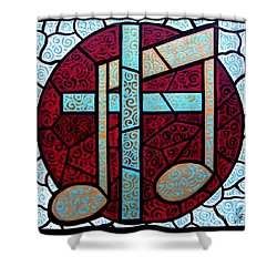 Shower Curtain featuring the painting Music Of The Cross by Jim Harris